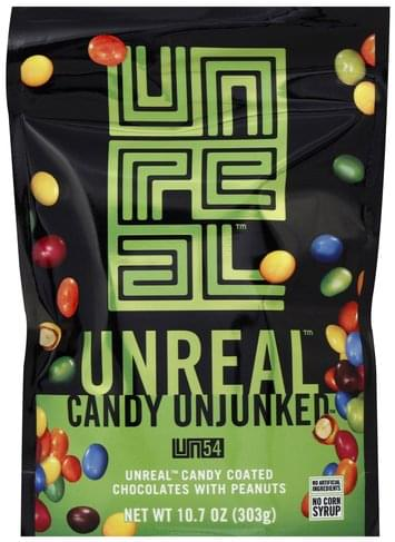 Unreal Coated Chocolates with Peanuts Candy - 10.7 oz