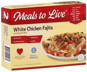 Meals Live White Chicken Fajita with Santa Fe Rice