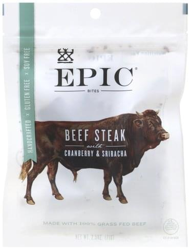Epic Beef, with Cranberry & Sriracha Steak Bites - 2.5 oz
