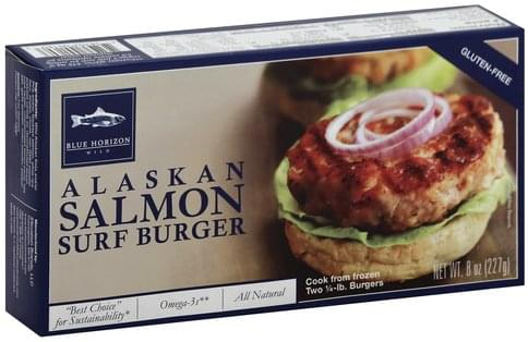 Blue Horizon Alaskan Salmon Surf Burger - 2 ea