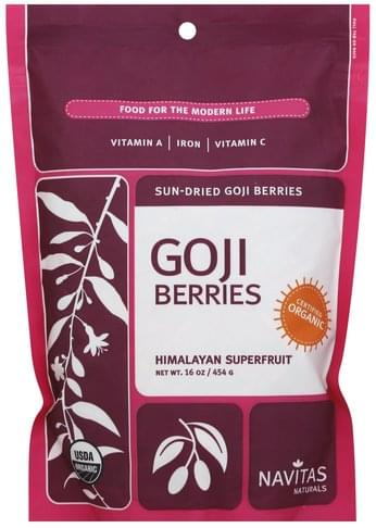 Navitas Sun-Dried Goji Berries - 16 oz