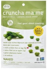 Cruncha MaMe Veggie Snack Freeze-Dried Edamame, Naked