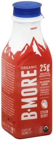 B More Organic Skyr, Strawberry Protein Smoothie - 12.8 oz
