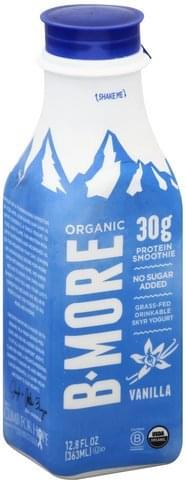 B More Organic Skyr, Vanilla Protein Smoothie - 12.8 oz