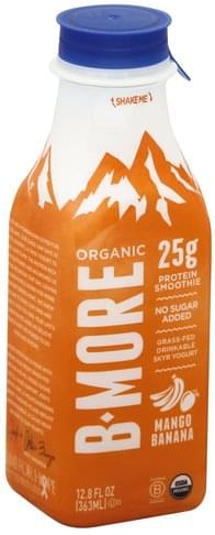 B More Organic Skyr, Mango Banana Protein Smoothie - 12.8 oz