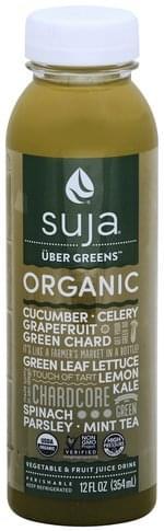 Suja Organic, Uber Greens Vegetable & Fruit Juice Drink - 12 oz