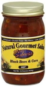 Don Sabrosa Salsa Natural Gourmet, Hot, Black Bean & Corn