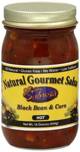 Don Sabrosa Natural Gourmet, Hot, Black Bean & Corn Salsa - 16 oz