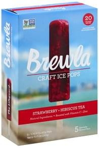 Brewla Ice Pops Craft, Strawberry + Hibiscus Tea