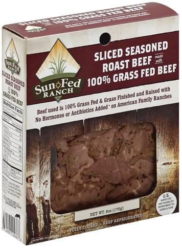 Sun Fed Ranch Seasoned, Sliced Roast Beef - 6 oz