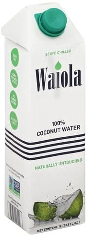Waiola 100% Coconut Water - 33.8 oz