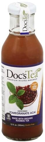 Docs Tea Unfiltered, Pomegranate Acai Rooibos Tea - 12 oz