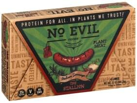 No Evil Foods Italian Sausage The Stallion