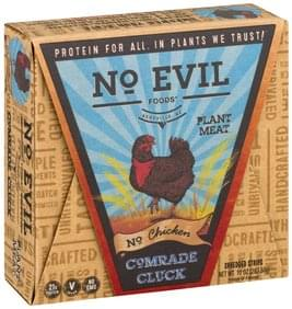 No Evil Foods Shredded Strips Plant Meat, No Chicken, Comrade Cluck