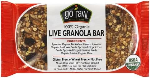 Go Raw Live, 100% Organic Granola Bar - 1.8 oz
