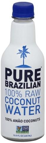 Pure Brazilian 100% Raw Coconut Water - 13.5 oz