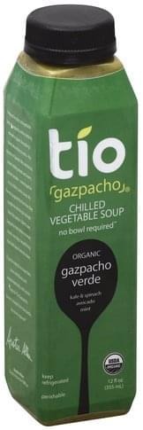 Tio Gazpacho Chilled, Gazpacho Verde Vegetable Soup - 12 oz