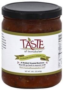 Taste of Immokalee Salsa Fire Roasted Tomato & Jalapeno