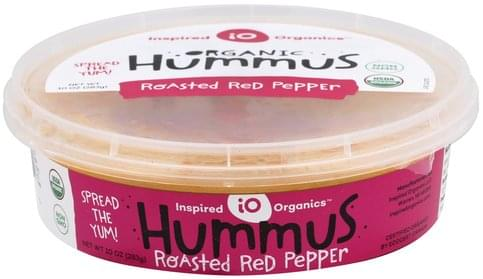 Inspired Organics Roasted Red Pepper Hummus - 10 oz