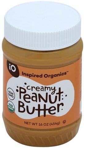 Inspired Organics Creamy Peanut Butter - 16 oz