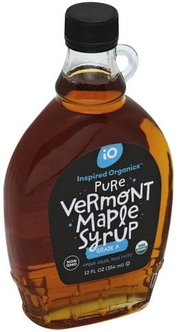 Inspired Organics Pure, Vermont Maple Syrup - 12 oz