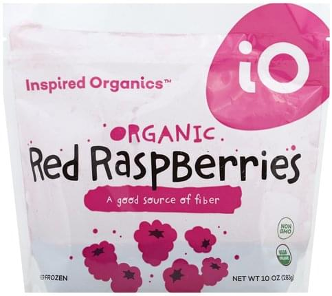 Inspired Organics Organic Red Raspberries - 10 oz