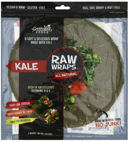 Raw Wraps Kale Wraps - 5 ea