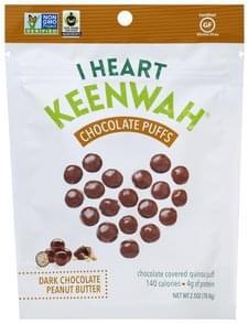 I Heart Keenwah Chocolate Puffs Dark Chocolate Peanut Butter