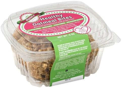 Alyssas Healthy Oatmeal Bites - 6 oz