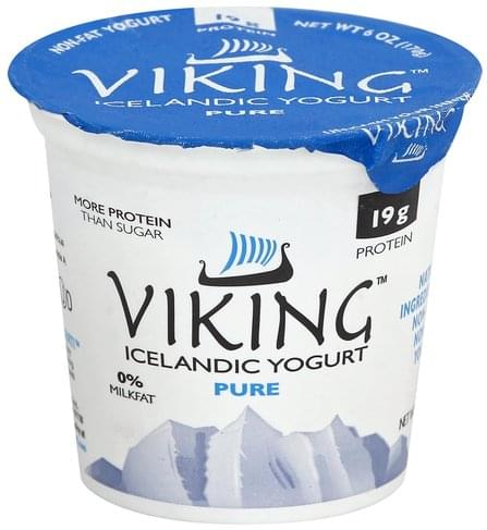 Viking Icelandic, Non-Fat, Pure Yogurt - 6 oz