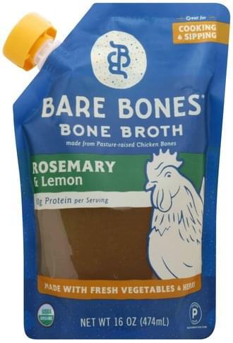 Bare Bones Rosemary & Lemon Bone Broth - 16 oz