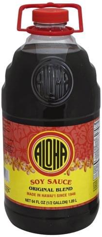 Aloha Original Blend Soy Sauce - 64 oz