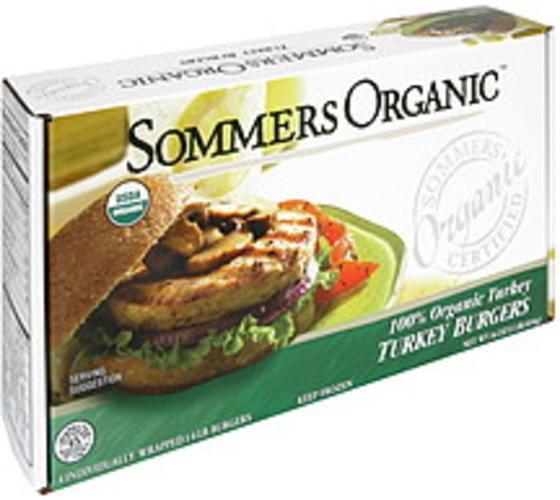 Sommers Organic 100% Organic Turkey Turkey Burgers - 4 ea