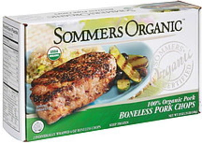 Sommers Organic 100% Organic Pork Boneless Pork Chops - 2 ea