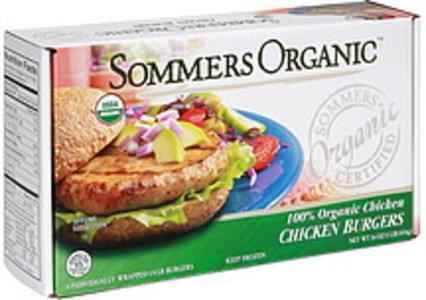 Sommers Organic Chicken Burgers 100% Organic Chicken
