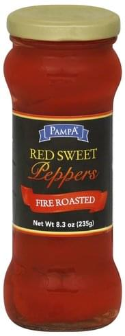 Pampa Red Sweet, Fire Roasted Peppers - 8.3 oz