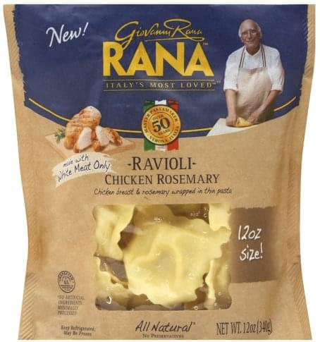 Rana Chicken Rosemary Ravioli - 12 oz, Nutrition Information