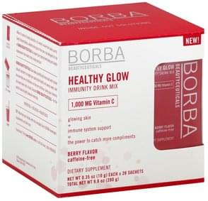 Borba Immunity Drink Mix Healthy Glow, Berry Flavor
