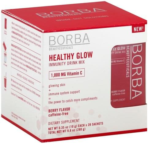 Borba Healthy Glow, Berry Flavor Immunity Drink Mix - 28 ea