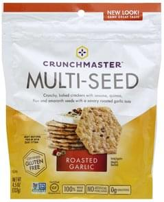 Crunchmaster Crackers Multi-Seed, Roasted Garlic