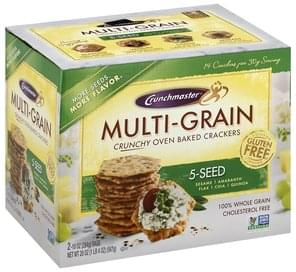 Crunchmaster Crackers Crunchy Oven Baked, Multi-Grain