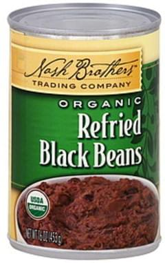 Nash Brothers Trading Company Black Beans Organic, Refried