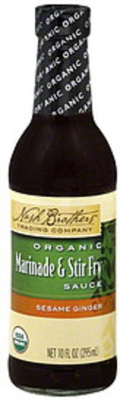 Nash Brothers Trading Company Marinade & Stir Fry Sauce Organic, Sesame Ginger