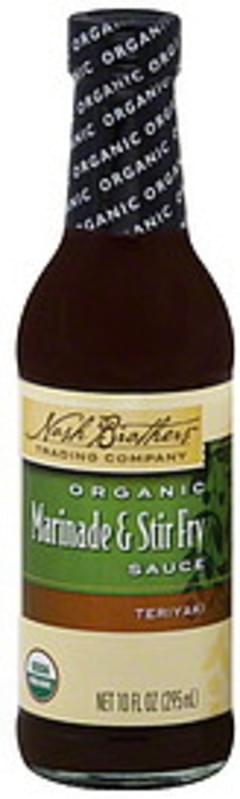 Nash Brothers Trading Company Marinade & Stir Fry Sauce Organic, Teriyaki