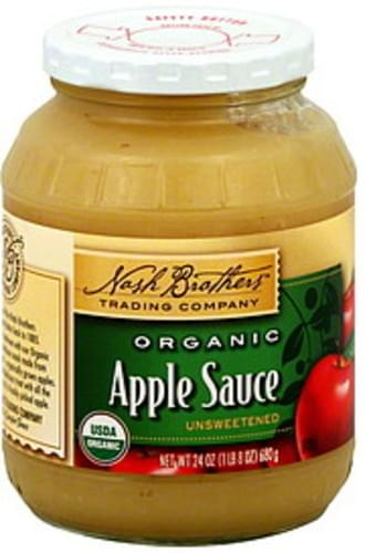 Nash Brothers Trading Company Organic, Unsweetened Apple Sauce - 24 oz