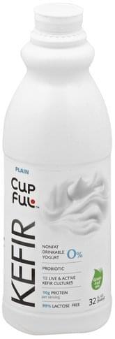 CupFul Nonfat, Plain Kefir - 32 oz
