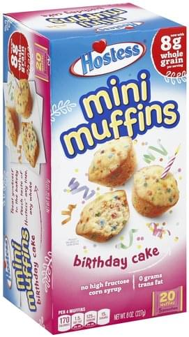 Awe Inspiring Hostess Mini Birthday Cakes Muffins 5 Ea Nutrition Information Funny Birthday Cards Online Eattedamsfinfo