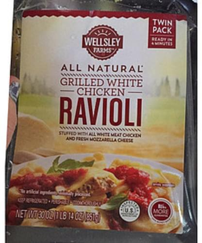 Wellsley Farms All Natural Grilled White Chicken Ravioli - 100 g
