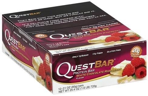Quest Bar White Chocolate Raspberry Flavor Protein Bar - 12 ea