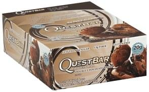 Quest Bar Protein Bars Double Chocolate Chunk Flavor